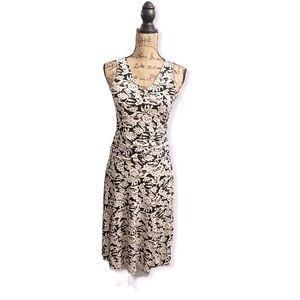 The Limited black and off white floral dress